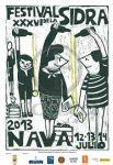 Cartel del festival de la sidra de Nava