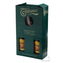 pack 2 botellas de sidra trabanco con vaso de sidra